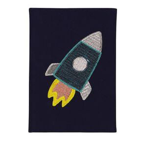 Kookie Space Rocket Notebook Blue A5