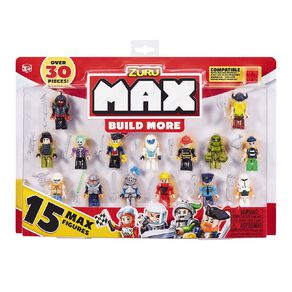 Zuru Max Build More Construction Figure Pack 15 Pieces Assorted