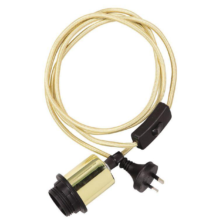 Living & Co Woola Plug-In Suspension Kit E27 60w Gold, , hi-res