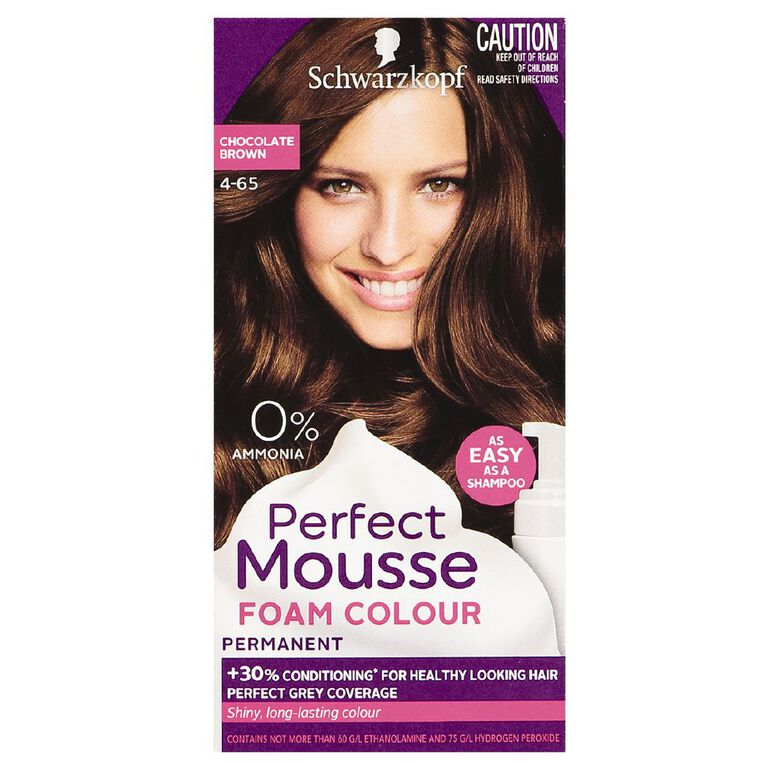 Schwarzkopf Perfect Mousse Hair Colour 4-65 Chocolate Brown, , hi-res