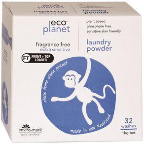 ECO Planet Laundry Powder Fragrance Free 1KG 1kg
