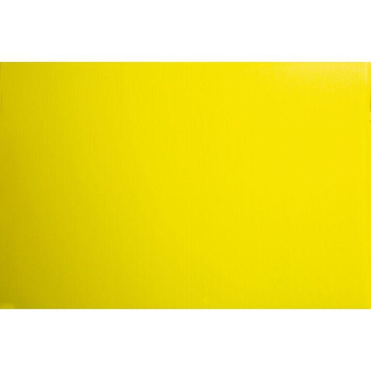 Plasti-Flute Sheet 600mm x 900mm Yellow, , hi-res