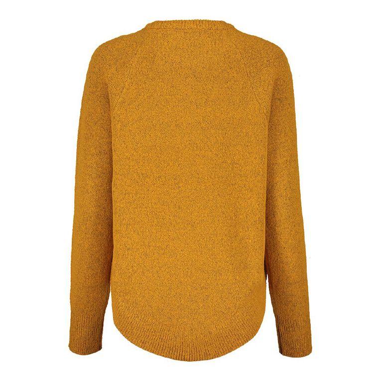 H&H Scoop Hem Spongy Knit, Yellow Mid, hi-res