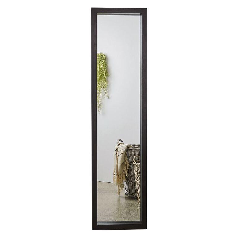 Living & Co Kalmar Mirror 40cm x 160cm Black, , hi-res
