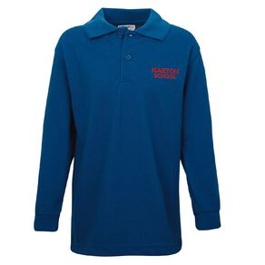 Schooltex Marton Long Sleeve Polo with Embroidery