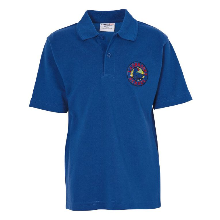 Schooltex Ladbrooks Short Sleeve Polo wtih Embroidery, Royal, hi-res