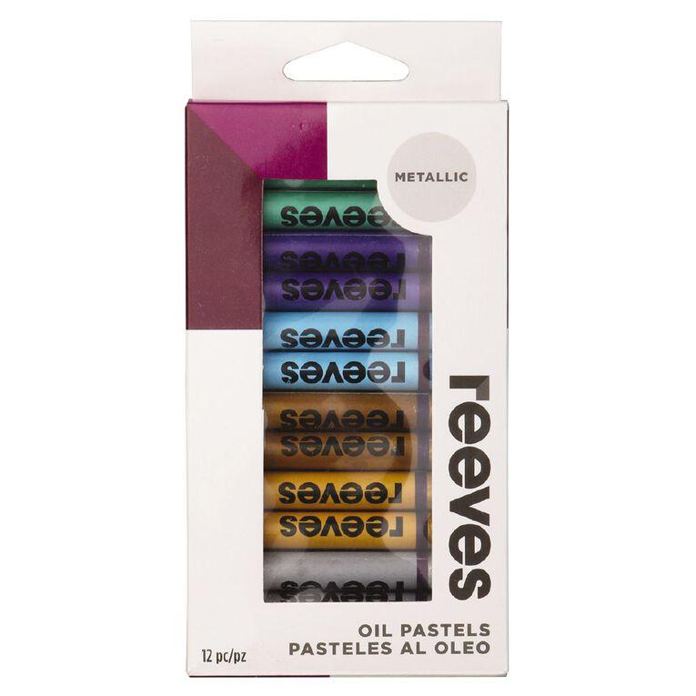 Reeves Oil Pastels Metallics 12 Pack, , hi-res