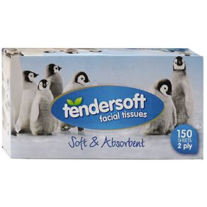 Tendersoft Tendersoft Facial Tissues 150s Assorted