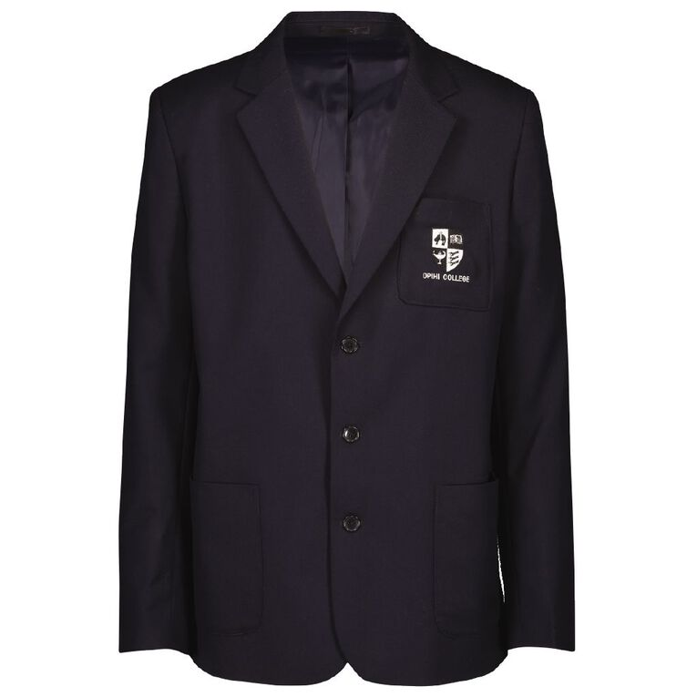 Schooltex Opihi College Blazer with Embroidery, Navy, hi-res