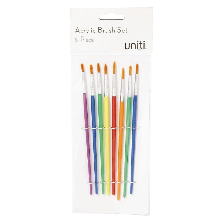 Uniti Brush Set Acrylic 8 Piece, , hi-res