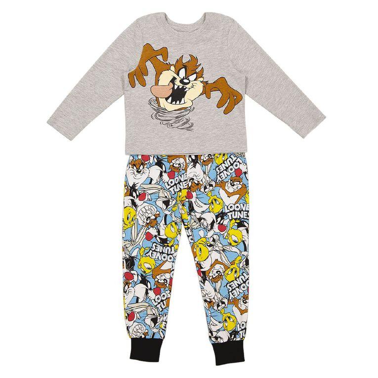Looney Tunes Boys' Knit Pyjama, Grey Mid, hi-res