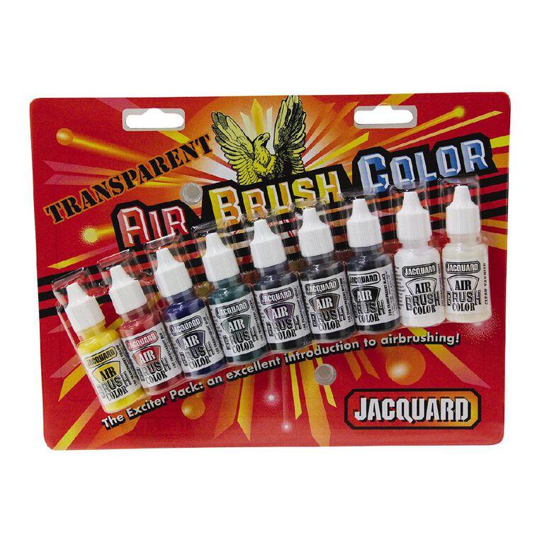 Jacquard Airbrush Transparent Exciter Pack 9 Piece, , hi-res