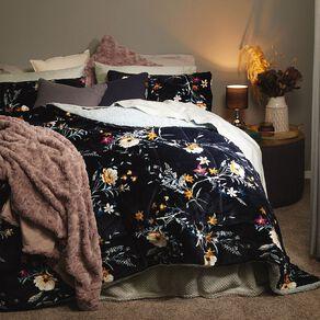 Living & Co Comforter Set Plush Sherpa Reverse Lily & Bloom Blue
