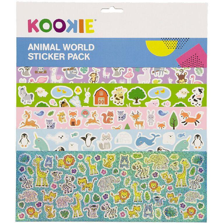 Kookie Sticker Mega Pack 5 Sheets Animal, , hi-res image number null