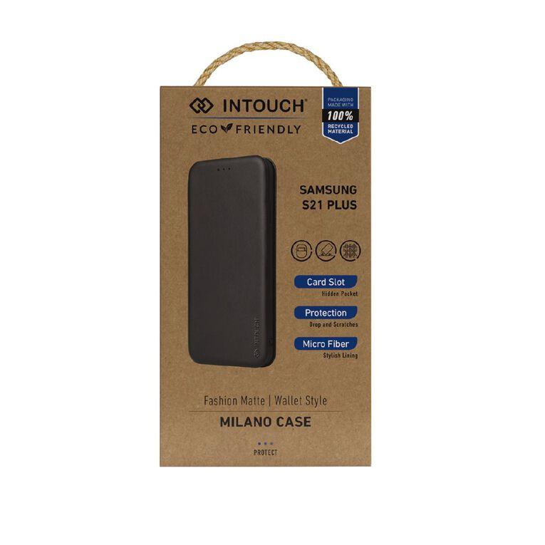 INTOUCH Samsung S21+ Milano Wallet Case Black, , hi-res