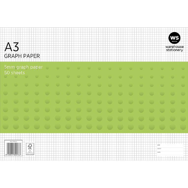 WS Graph Pad 5mm 50L A3, , hi-res