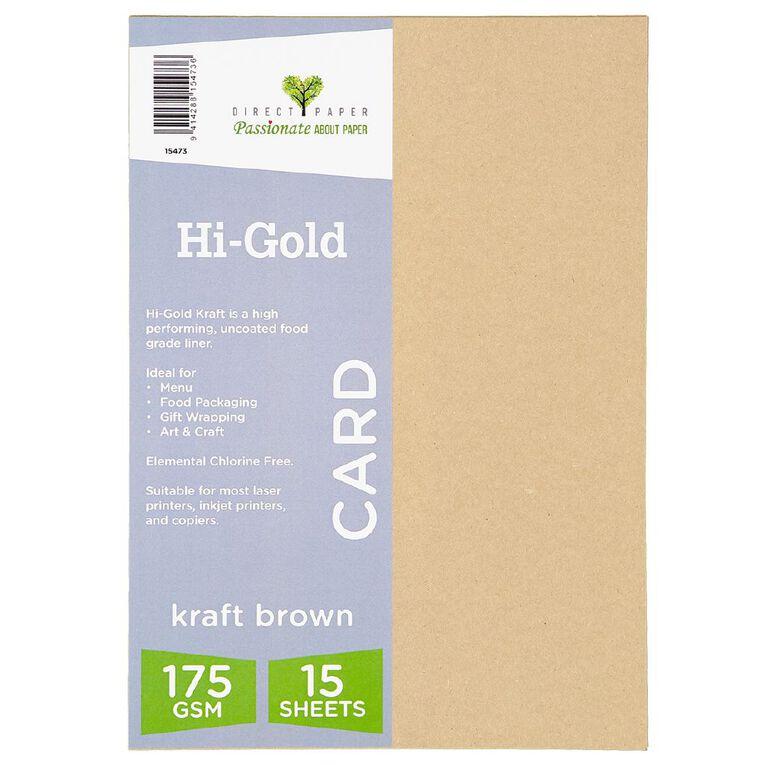 Trophee Higold Kraft 175gsm 15 Pack A4, , hi-res