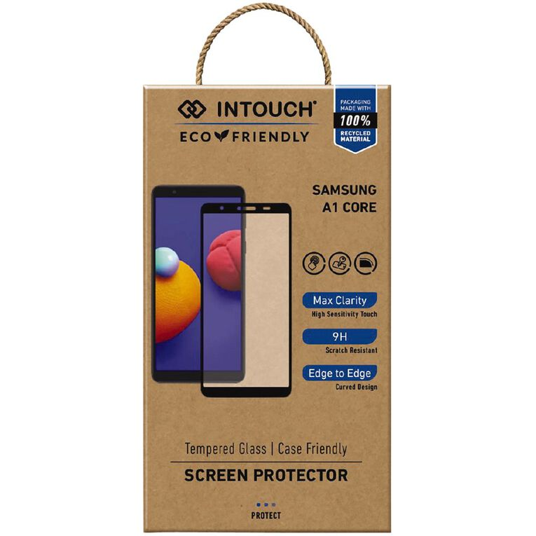 INTOUCH Samsung A01 Core Glass Screen Protector Clear, , hi-res