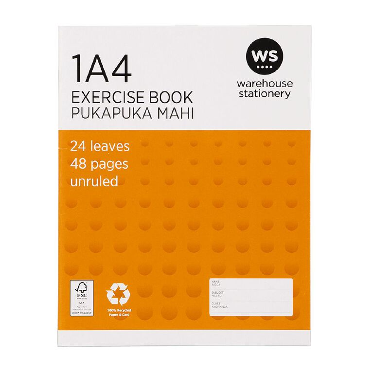 WS Exercise Book 1A4 (Jub) Blank 24 Leaf, , hi-res