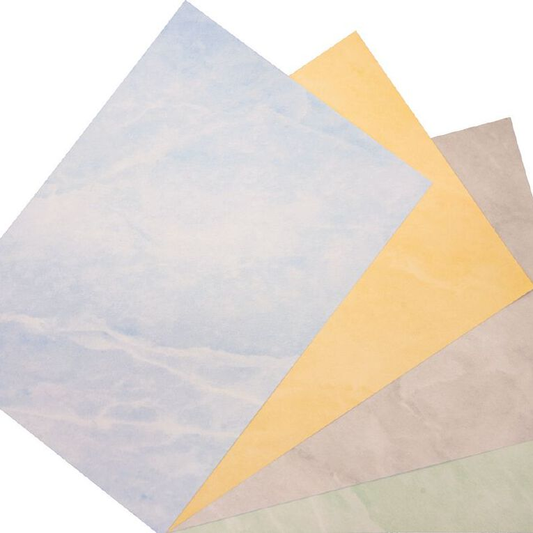 Direct Paper Marble Paper 100gsm 12 Pack Blue A4, , hi-res