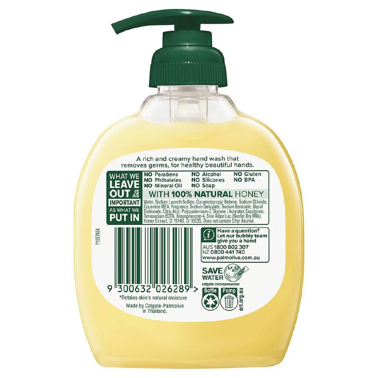 Palmolive Soft Wash Hand Wash Milk and Honey Pump 250ml, , hi-res