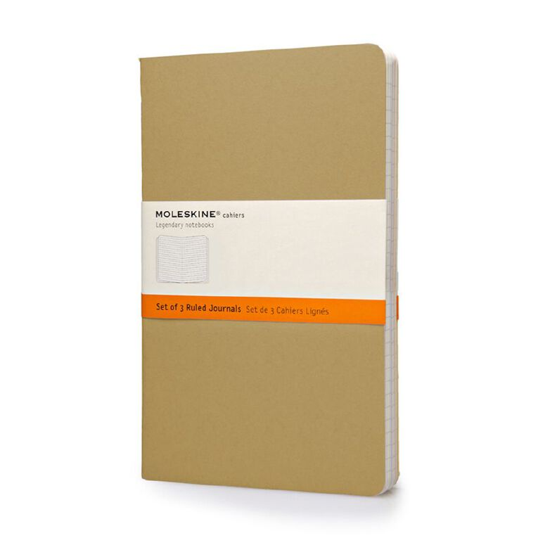 Moleskine Cahier Large Notebook Ruled Kraft 3 Pack, , hi-res