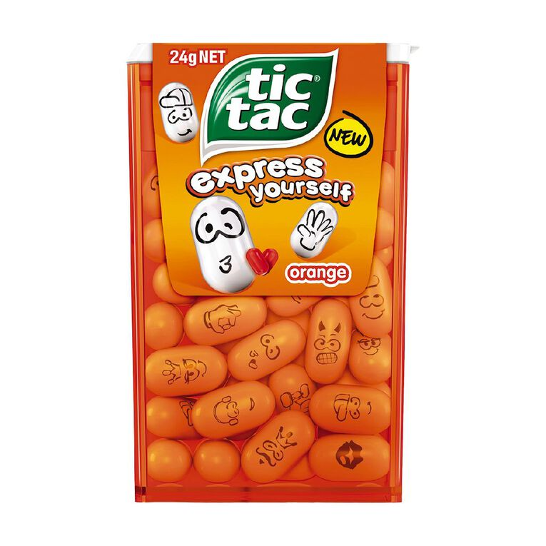 Tic Tac Orange Flat 24g, , hi-res