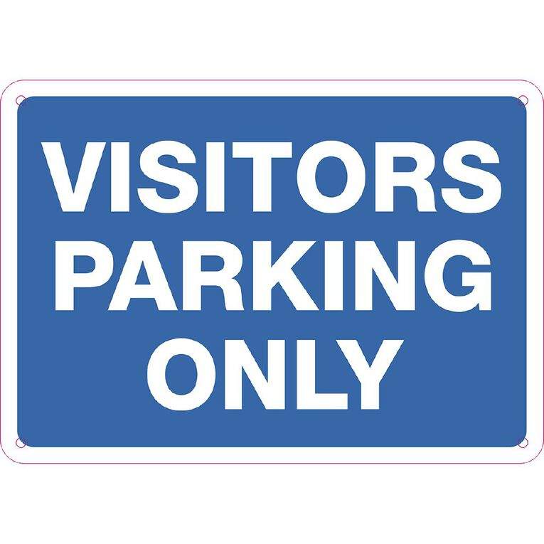 WS Visitor Parking Only Sign Small 240mm x 340mm, , hi-res