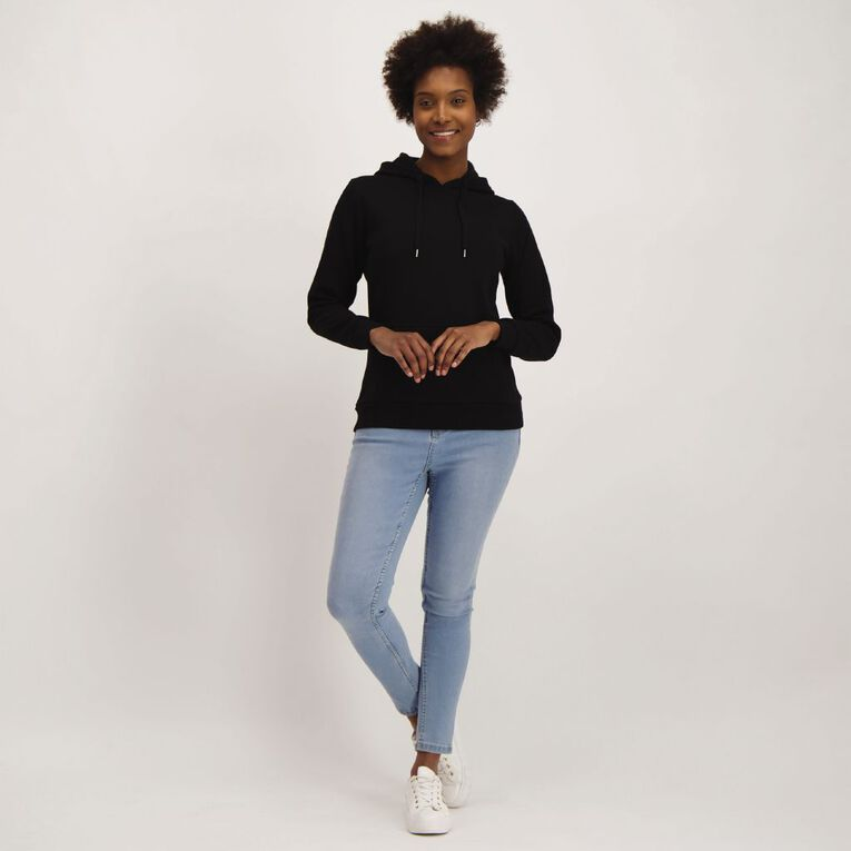 H&H Women's Plain Hoodie, Black, hi-res