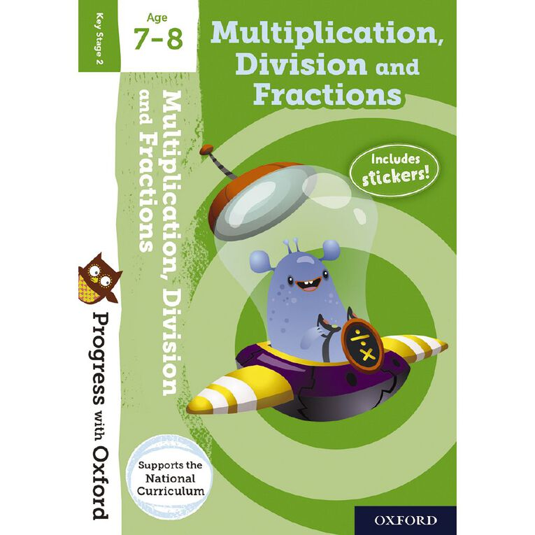 Multiplication Division and Fractions Age 7-8 by Oxford University Press, , hi-res