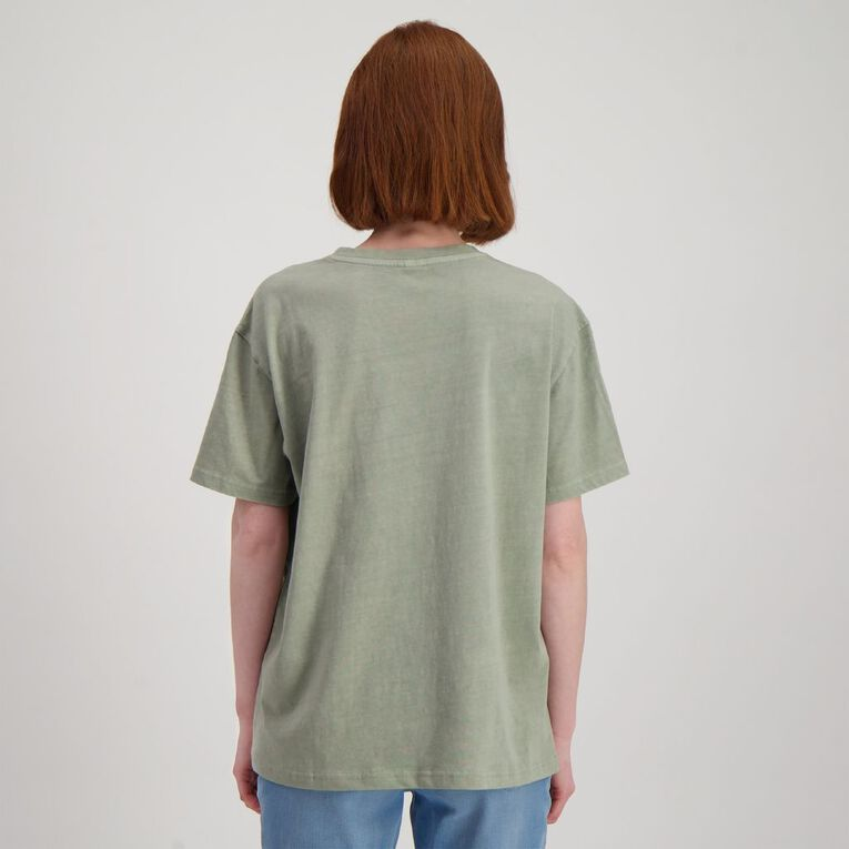 H&H Women's Vintage Wash Tee, Green Light, hi-res image number null