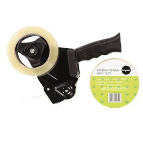 WS Packaging Tape Gun & 2 Tapes 48mm x 100m