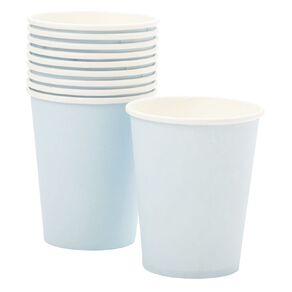 Party Inc Paper Cups 260ml Pastel Blue 10 Pack