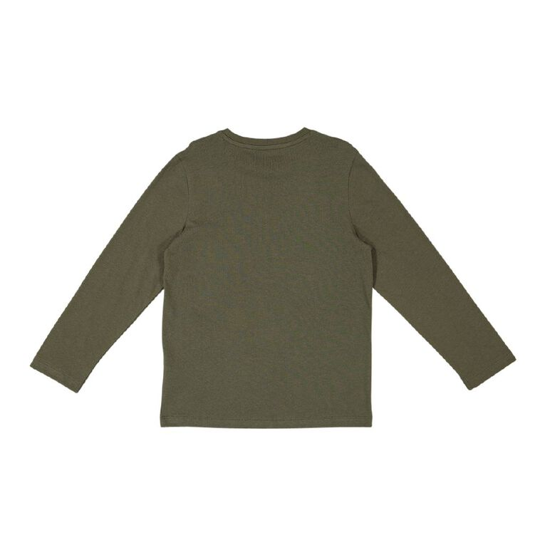 Young Original Long Sleeve Print Tee, Green Dark, hi-res