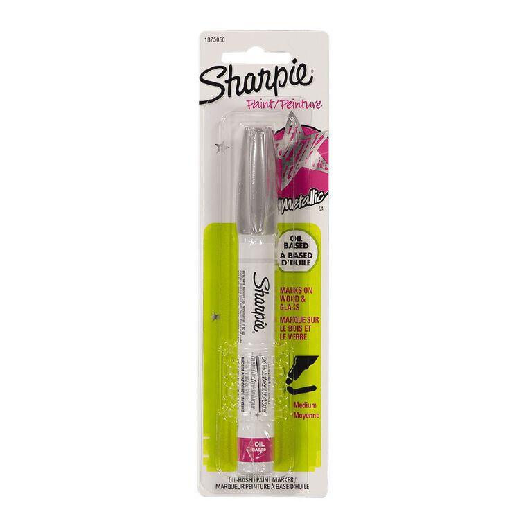 Sharpie Oil-Based Paint Marker Medium Point Silver - 1-pack, , hi-res