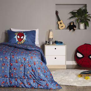 Spider-Man Comforter Set Blue King Single