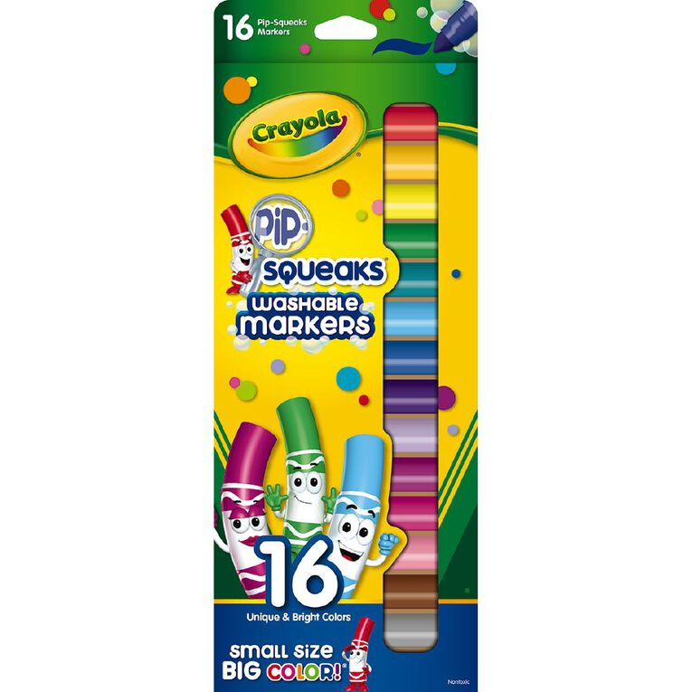 Crayola Pipsqueaks Washable Markers 16 Pack, , hi-res