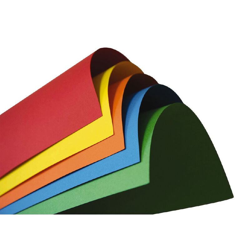 Direct Paper Coloured Card 220gsm 25 Pack Assorted A3, , hi-res