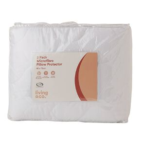 Living & Co Pillow Protector Microfibre White 2 Pack