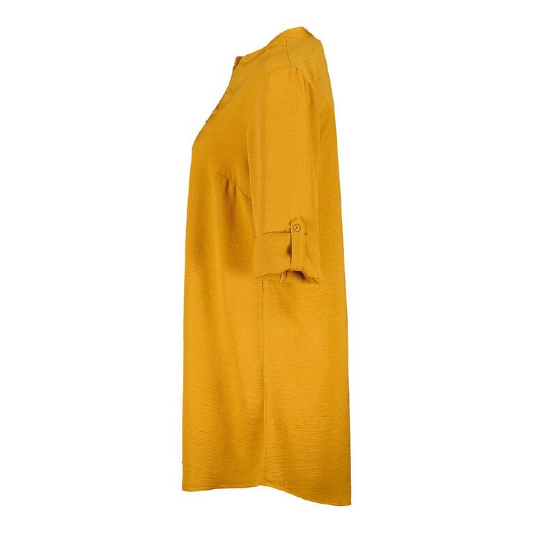 H&H Women's Tuck Front Tunic, Yellow Mid, hi-res