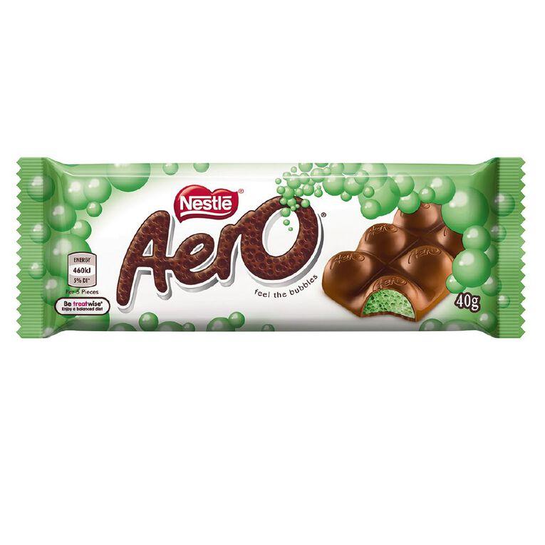 Nestle Aero Peppermint Chocolate Bar 40g, , hi-res