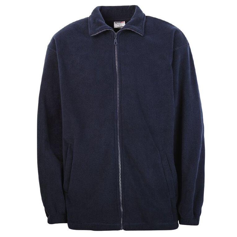 Schooltex Full Zip Polar Fleece Jacket, Navy, hi-res