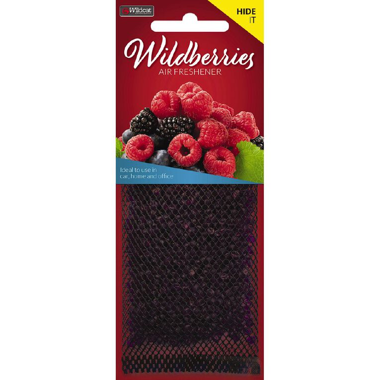 Wildcat Auto Air Freshener Hide It Wildberry, , hi-res