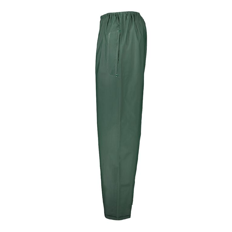 Rivet Waterproof PVC Pants, Green, hi-res