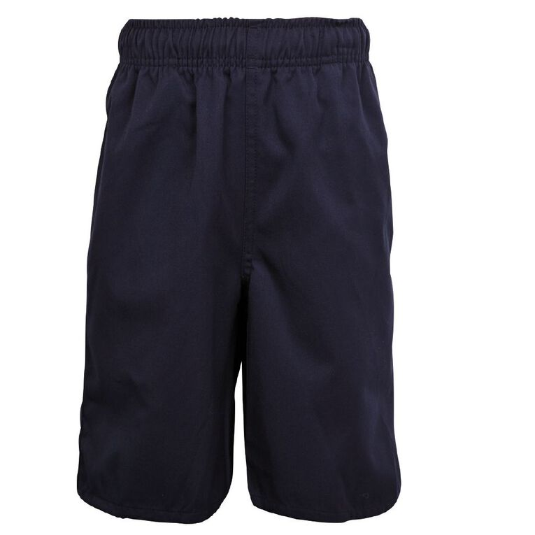 Schooltex Kids' Baggy Fit Shorts, Navy, hi-res