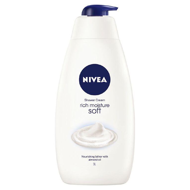 Nivea Shower Cream Soft 1L, , hi-res