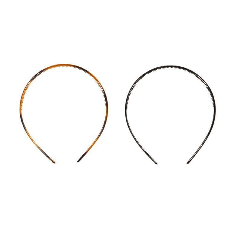Colour Co. Headbands Black and Tortoiseshell 2 Pack, , hi-res