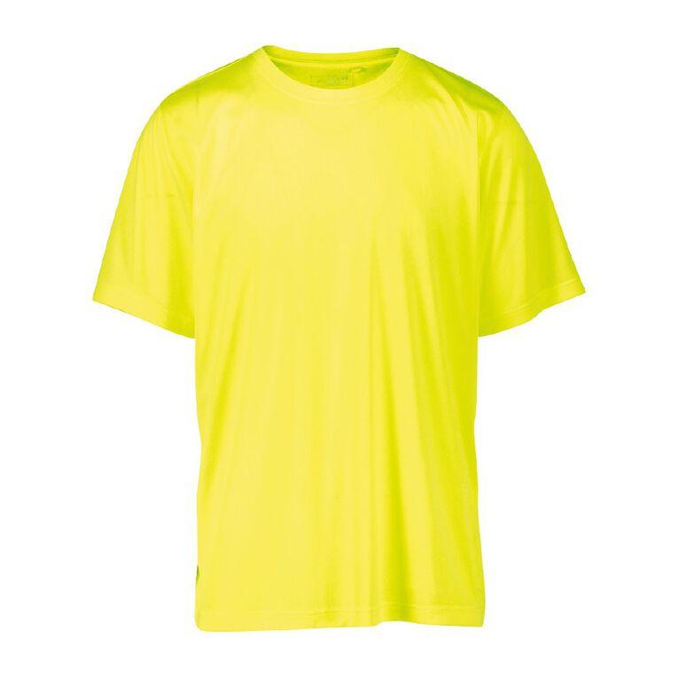 Active Intent Men's Cooldry Tee, Yellow, hi-res