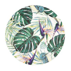 Party Inc Teal Tropical Paper Plates 23cm 8 Pack