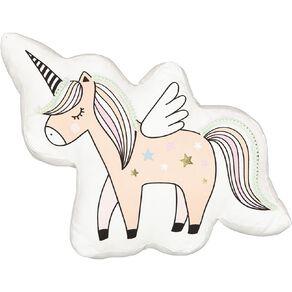 Living & Co Kids Cushion Unicorn White 60cm x 36cm